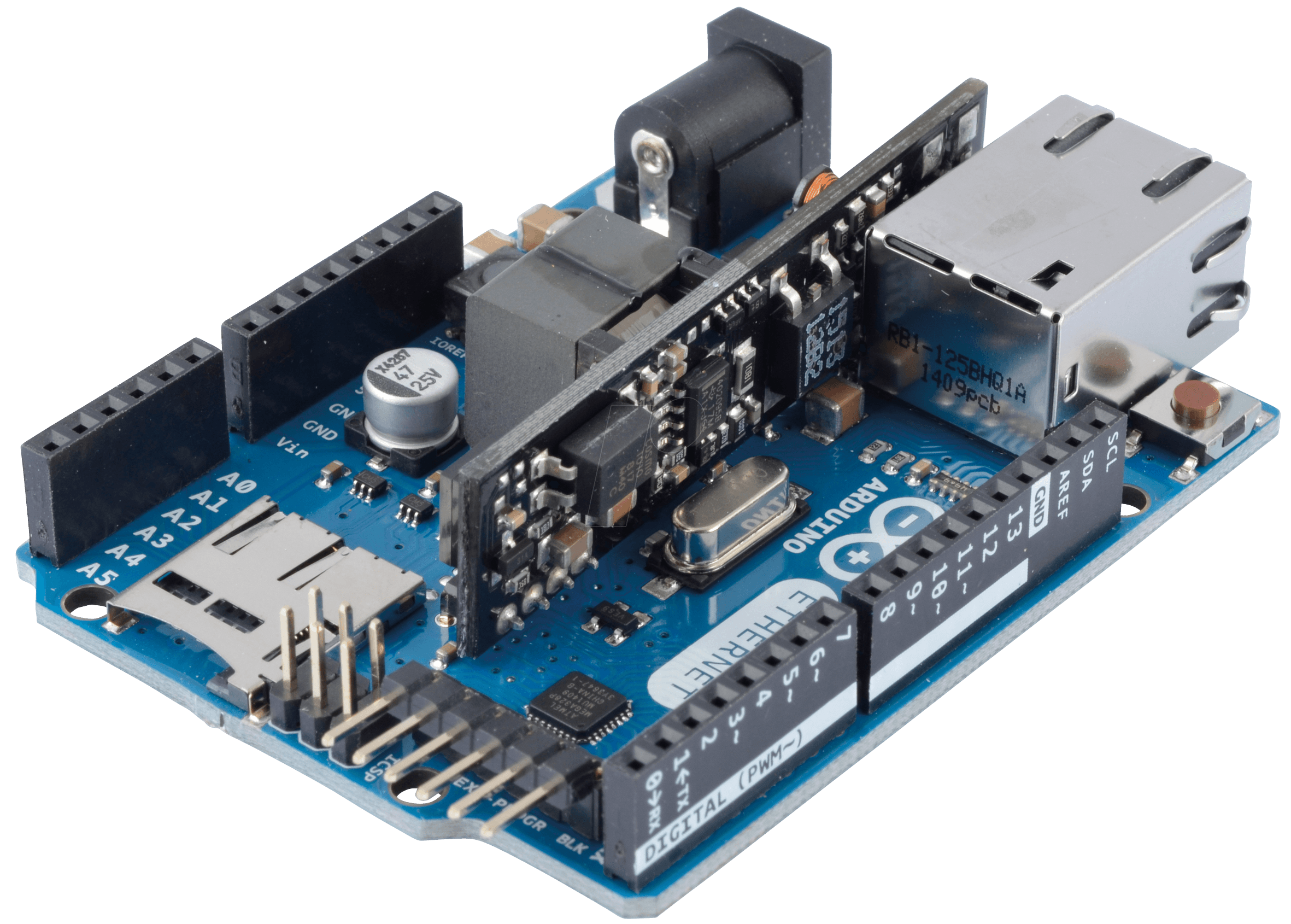 Arduino ethernet shield with poe rdd technologies